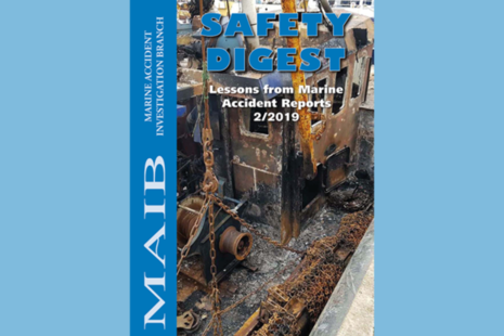 Front cover of MAIB Safety Digest 2/2019