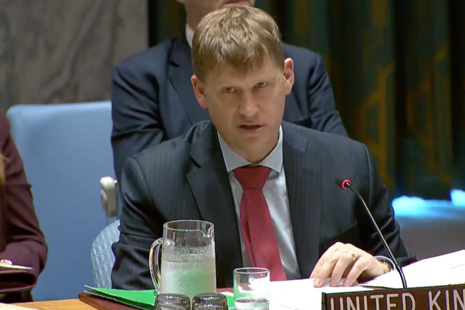 Ambassador Jonathan Allen at the Security Council