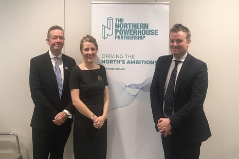 Jamie Reed with 2 other representations of the Northern Powerhouse