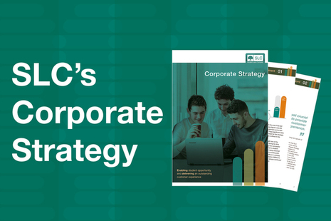 Graphic showing the front cover of the Corporate Strategy document