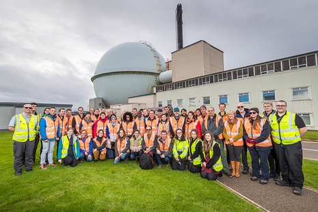 International delegates outside the Dounreay Fast Reactor