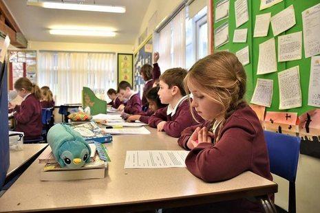 KS2 pupil listening