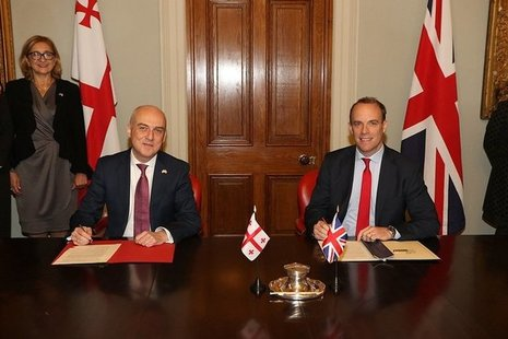 UK and Georgia Foreign Ministers