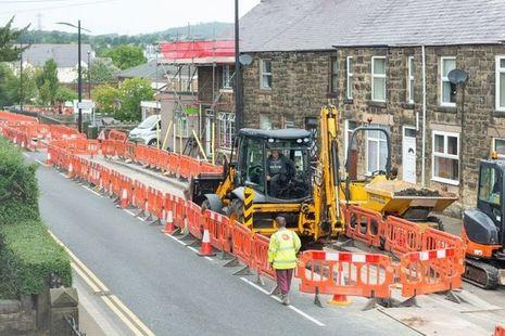 Road works caused by utilities works