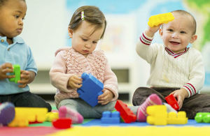 young children in nursery playing