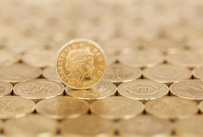 Picture of pound coins.