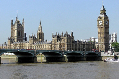 Photograph of the Houses of Parliament, UK.