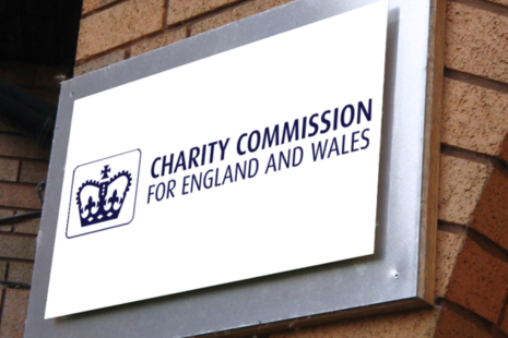 A photograph of the Charity Commission logo.