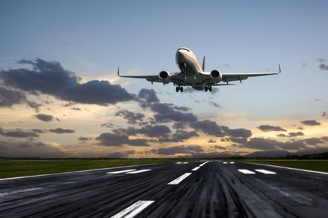 Image of an aeroplane taking off