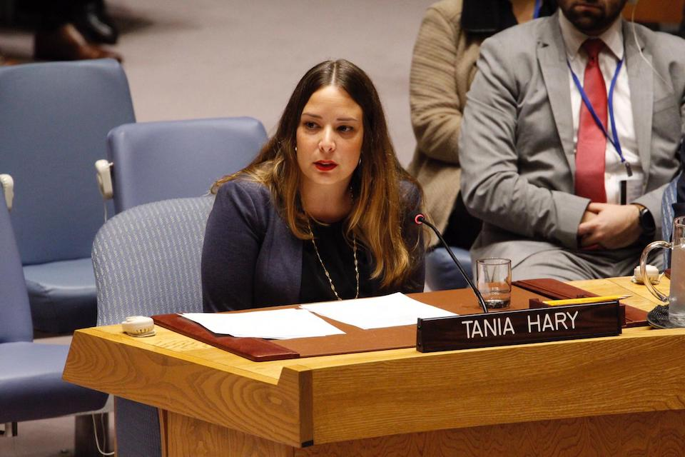 Tania Gary at the UN Security Council