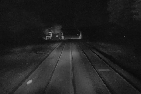 View of Norwich Road level crossing about four seconds before the train reached the crossing (train forward facing CCTV courtesy of Greater Anglia)
