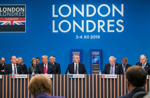 Prime Minister Boris Johnson and other world leaders at the 2019 NATO Leaders' Meeting