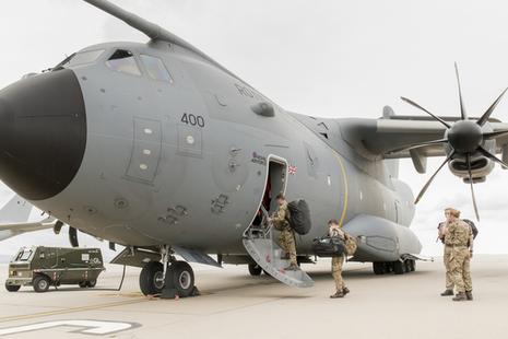 RAF A400M. Crown copyright.