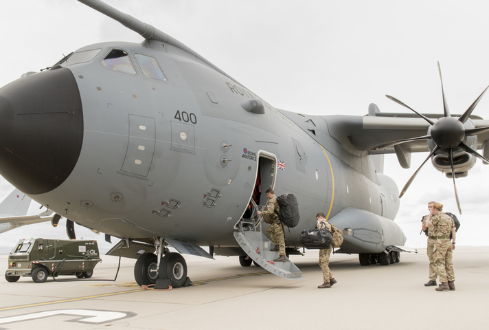 RAF A400M. Crown copyright.