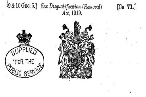 Sex Disqualification (Removal) Act