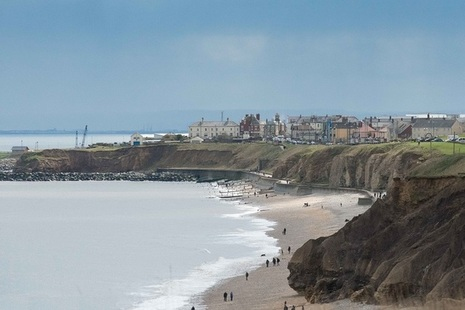 View from the England Coast Path looking at Seaham from the north