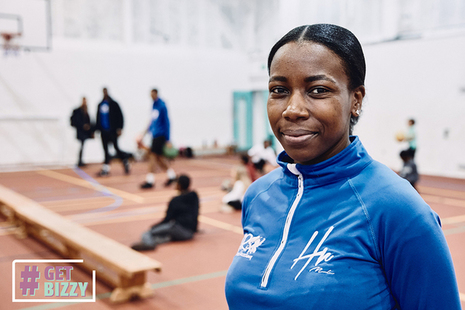 Mickela Hall-Ramsay, CEO of HR Sports Academy, smiling at the camera