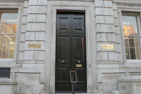 Cabinet Office door