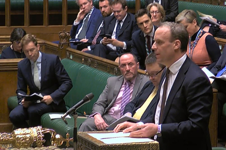 Foreign Secretary Dominic Raab response to an urgent question on Iran in the House of Commons