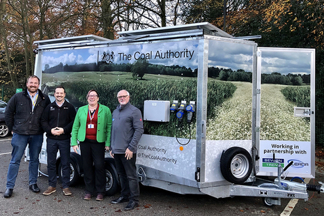 The Coal Authority's first mobile dosing trailer
