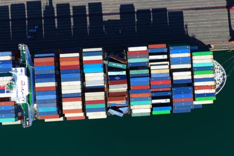 CMA CGM G. Washington container bay collapse