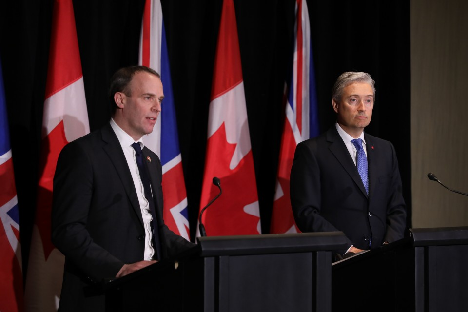 Foreign Secretary's speech at a press conference with the Canadian Foreign Minister, 9 January 2020