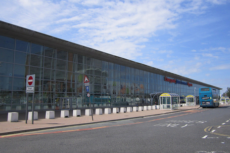 Exterior view of the terminal at Liverpool John Lennon airport