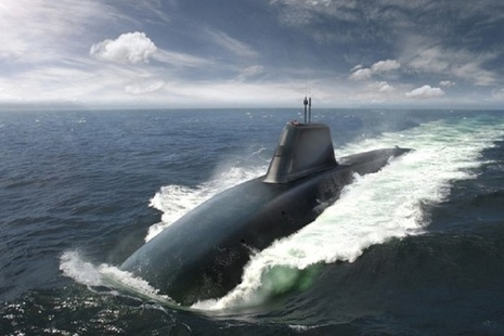 Artists impression of the Dreadnought class submarine. MOD Crown Copyright.