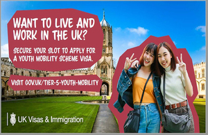 The ballot for the Youth Mobility Scheme 2020 for South Korean nationals will be opened in February 2020.