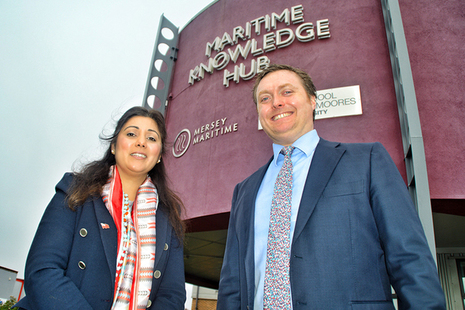 Maritime Minister Nusrat Ghani with Chris Shirling Rooke, CEO of Mersey Maritime. Photo credit: TonyMcDonough/LBN