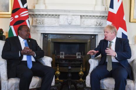 Prime Minister Boris Johnson with President Kenyatta
