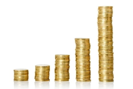 Stacks of coins in graph shape
