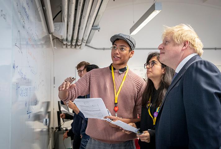 PM Boris Johnson visits a school