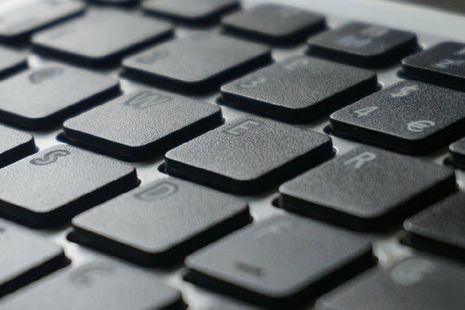 Stock image of a keyboard.