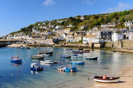 Mousehole Fishing Village Near Penzance in Cornwall, England