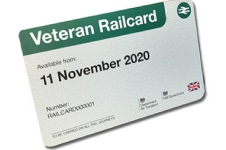 Veterans Rail Card