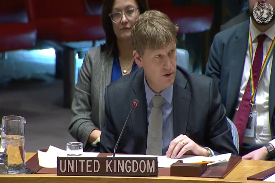 Speech: The human cost of military escalation in Syria