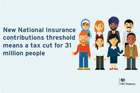 Graphic to support the April tax cut announcement