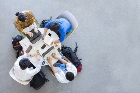 An image of young people studying.