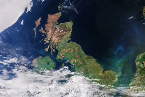 Satellite image of UK