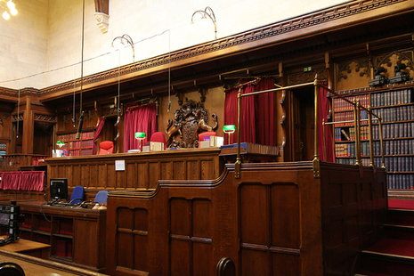 Inside of a Crown Court