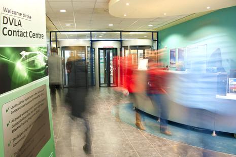 DVLA Contact Centre reception area