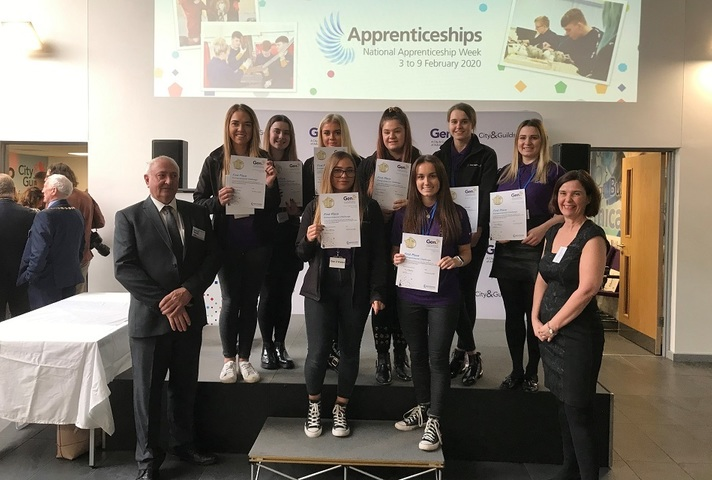 LLWR apprentices display their certificates after winning the Challenge.