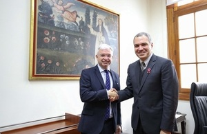 PM's Trade Envoy to Peru Mark Menzies MP (left) with Peru's Prime Minister Salvador del Solar