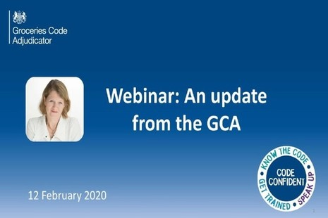 Update from the GCA. Webinar delivered on 12 February 2020.