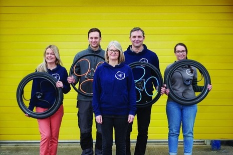 The Loopwheels team, recipients of 2 Innovate UK Smart Grants.