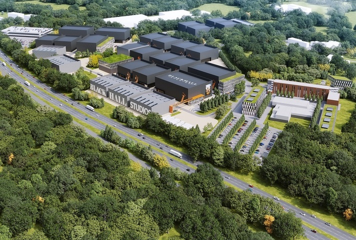 CGI image of Blackhall Film Studios site in Reading