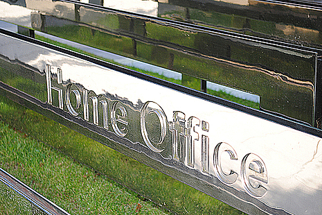 Home Office sign.