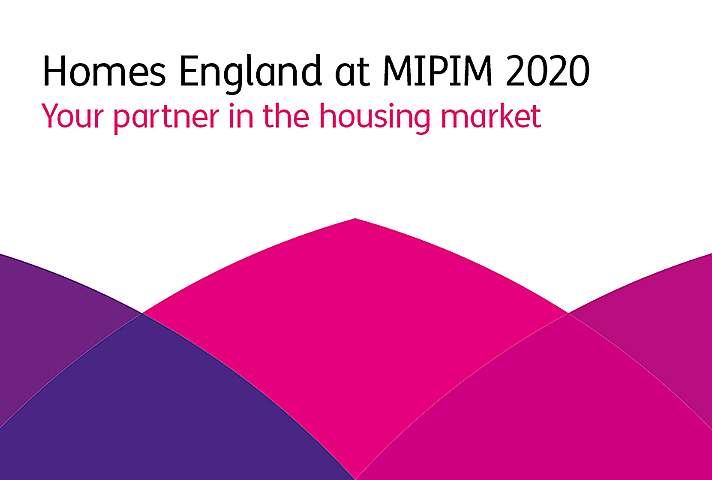 Homes England at MIPIM Cannes 2020 Banner