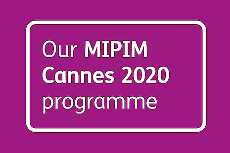 Homes England at MIPIM Cannes 2020 Programme Graphic